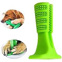1pc Cepillo de Dientes para Perros Higiene Juguete erizado Cepillado palillo de Pet Cepillo de Dientes molares (Verde)