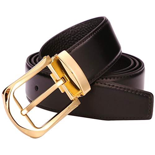 Cinturones de Cuero para Hombre, 100% Cuero con Hebilla...