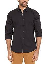 United Colors of Benetton Mens Regular Fit Shirt  (8903239782902_Black_Large)