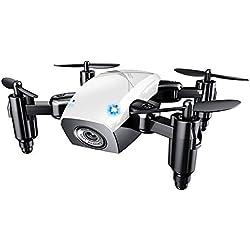 Mallalah Pliable Drone Enfant Pas Cher Jouet Hobbie Caméra à Choisir Hélicoptère Télécommande 4 Canaux 360 Degrés Mode sans Tête Intelligent