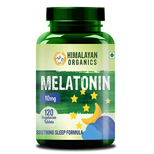 Himalayan Organics Melatonin 10mg (Healthy Sleep Cycle) - 120 Tablets (120)