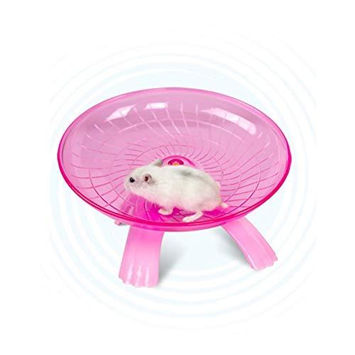 Pet Hamster Flying Untertasse Laufrad Maus Running Disc Toy Käfig Zubehör, rosa (Flying Käfig)