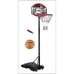 Hudora All Stars–Set de canasta de baloncesto, pelota y bomba