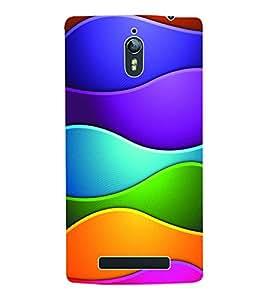 Fuson 3D Printed Coloured Pattern Designer Back Case Cover for Oppo Find 7 - D983