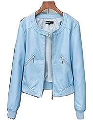 LQABW Ladies Spring And Autumn Nouvelle Veste En Cuir De Grande Taille Auto-cultivée Short Pu Leather