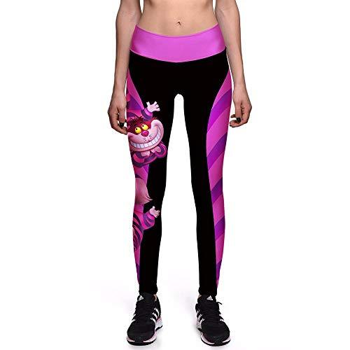 Wunderland Cheshire Katze 3D-Drucke Hohe Taille Laufen Fitness Sport Leggings Jogger Yoga Pants ()