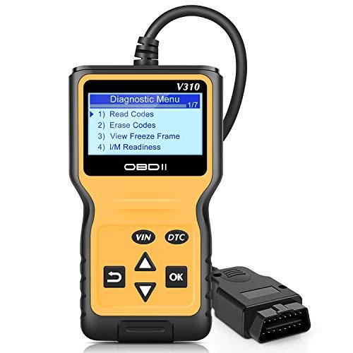 VXDAS 9V-TTC0-IXGO Scanner OBD2, V310 amélioré OBD II Auto Lecteur de code Vérifier la lumière du moteur CAN Outil d'analyse de diagnostic Outil d'affichage de véhicule Courbe RealTime - Orange