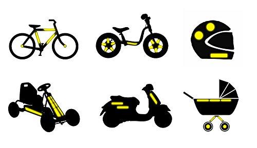 pfalzkind reflektorfolien aufkleber in den farben rot gelb und wei. Black Bedroom Furniture Sets. Home Design Ideas