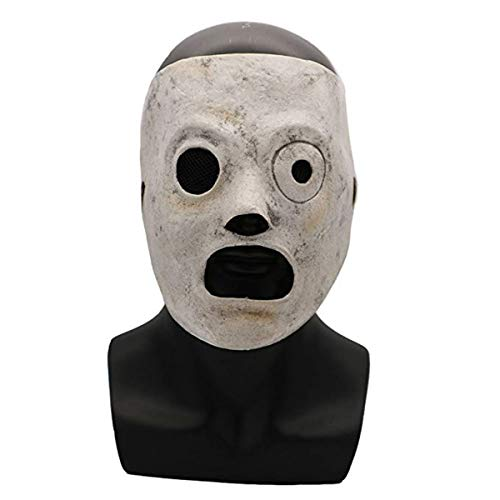 Corey Taylor DJ-Maske mit Slipknot-Motiv, verstellbar, Latexmasken, Halloween-Party, Kostüm-Requisiten - Corey Taylor (Slipknot Corey Taylor Maske)