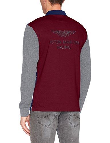 HACKETT LONDON Herren Poloshirt Amr Mlt Wngs Ls Navy/Multi