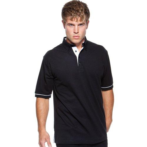 Kustom KitHerren Poloshirt Black/ Red
