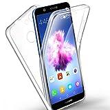 AROYI Huawei P Smart/Enjoy 7S Hülle 360 Grad Handyhülle, Silikon Crystal Full Schutz Cover [ 2 in 1 Separat Hart PC Zurück + Weich TPU Vorderseite ] Vorne und Hinten Schutzhülle für P Smart/Enjoy 7S