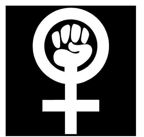 9.5 cm * 15.7 cm Mujer Poder Vinilo Feminista Pegatinas de estilo Pegatinas Negro/Plateado/3PCS