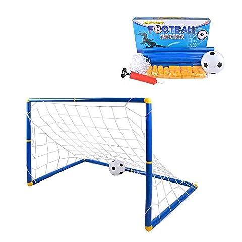 Kidcia - Jeu de But de Foot avec Ballon de Foot et Pompe à Air Cage de Foot pour les Enfants Jeux de Plein Air et Sport Set d'EntraInement de Foot - Grand
