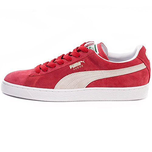 Puma Suede Classic Femmes Trainers Rouge Blanc