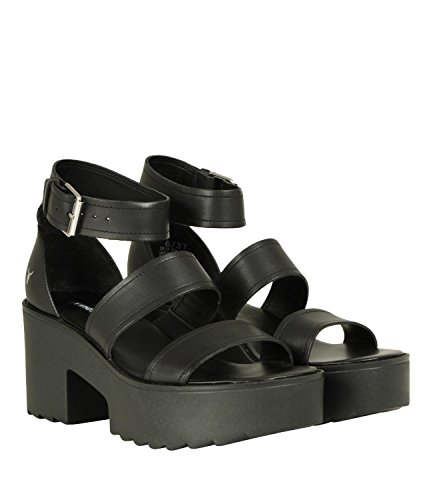 Windsor Smith ADA, Sandali Punta Aperta Donna Nero (Black 001)