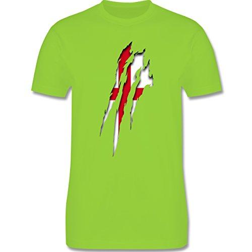 Länder - England Krallenspuren - Herren Premium T-Shirt Hellgrün
