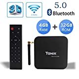 Android 9.0 TV Box Sofobod TX6 TV Box 4 Go RAM/32 Go ROM 6 K TV Allwinner H6, up 1,5 GHz, Quad Core Arm Cortex-A53 H.265 Decoding 2,4 GHz/5 GHz WiFi (EINWEG)