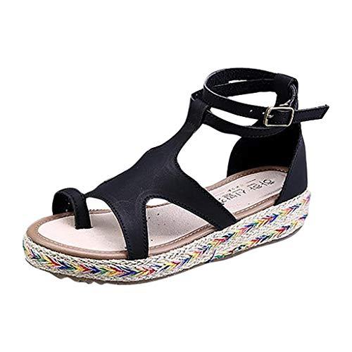 Markthym Mode Frauen Sommer Schnalle Peep Toe Flache Schuhe Casual Party Sandalen Europa und die Vereinigten Staaten große Hanf Dicke Plattform Schnalle Sandalen Hi Heel Open-toe Pump