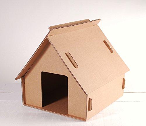 Selfpackaging Casita de cartón - Sin tejado rascador