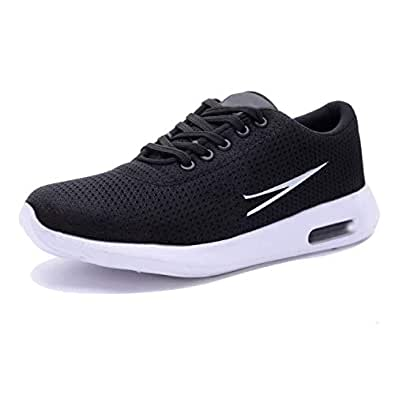 RD FASHION Men's Casual Canvas Running Shoes (10, Black)