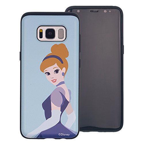 Galaxy Note 8 Schutzhülle, Disney Süße Prinzessin Layered Hybrid [TPU + PC] Bumper Cover [Shock Absorption] für Samsung Galaxy Note 8, Cinderella Sky Blue (Galaxy Note8)