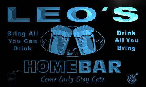 p168-b-leos-home-bar-beer-family-last-name-neon-light-sign-barlicht-neonlicht-lichtwerbung