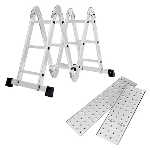 SAILUN® 6 en 1 Escalera de Tijera 3.4M Escalera Multifunción Plegable Escalera...