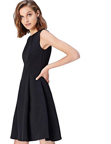 FIND 13640 vestido fiesta mujer, Negro (Black), 40 (Talla del Fabricante: Medium)