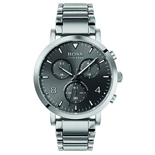 Hugo Boss Herren Chronograph Quarz Uhr mit Edelstahl Armband 1513696