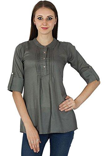 Sundress Boho Wear Vêtements En Coton Robe D'Été Tunique Gris
