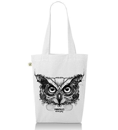 Owl Weiß Grey Kane Jutebeutel Premium vwZ5RX