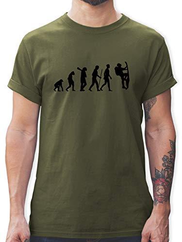 Evolution - Klettern Evolution - M - Army Grün - L190 - Herren T-Shirt und Männer Tshirt