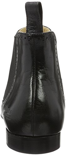 Melvin & Hamilton Damen Sally 16 Chelsea Boots Schwarz (Salerno Black Ela Black LS Black)