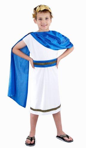 Kostüm Caesars Girl - Jungen römische Kaiser Caesar Kostüm Alter 7-9