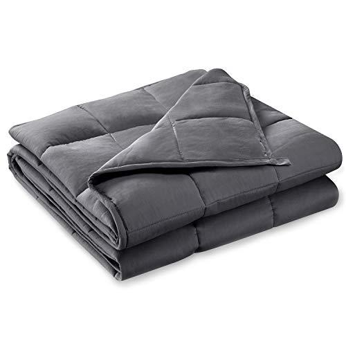 BUZIO Beschwerte Decke für Erwachsene perfekt für Entspannung, Einschlafen, schneller und Besser, reduziert Stress und Angstgefühle, Autismus,Dark grau (150 x 200cm,11kg,Grau)