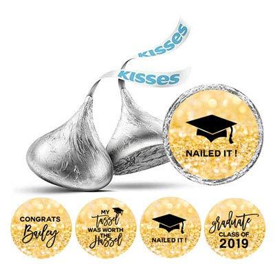 Darling Souvenir Hershey Kisses Abschluss-Party-Thema Sticker Packung mit 190 Stück-Flitter Gold
