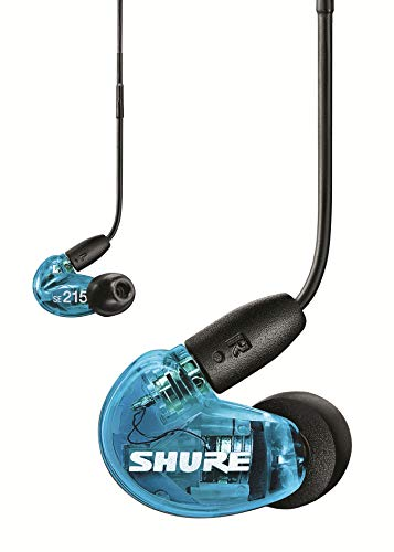 Shure SE215 In Ear Kopfhörer mit Sound Isolating Technologie, 3, 5-mm-Kabel, Fernbedienung und Mikrofon - Premium Ohrhörer mit warmem & detailreichem Klang - Special Edition Blau thumbnail