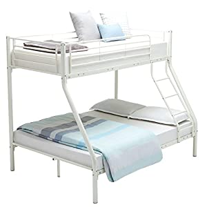 Mecor Bunk Beds Triple Sleeper Beds, 3FT Single 4FT6 Double Metal Bed Frame for Adult and Children