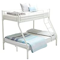 mecor 3FT Single 4FT6 Double Metal Bunk Beds Triple Sleeper Beds for Adult and Childrens