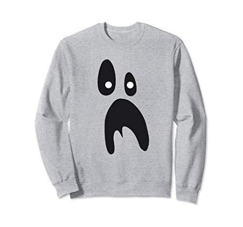 Geist Geschnitten Gesicht Kostüm Aus - Lustiges Geist-Gesichts-Kostüm-Shirt für Halloween Sweatshirt