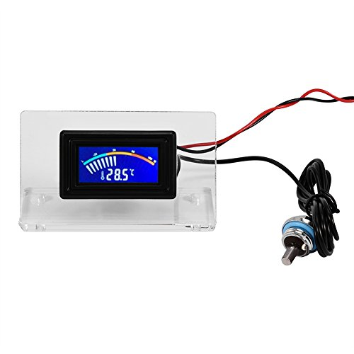Richer-R PC Wasserkühlung Temperatur Detektor, LCD Bildschirm Digitalthermometer/Zeigerthermometer Thermometer 4-polige Kabel mit wasserdicht Sonde Set für Computer Wasserkühlung(Zeigerthermometer) -