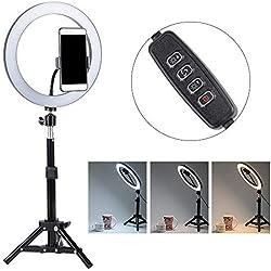 """LED Ring Light Lumière Anneau, Photo Vidéo Éclairage Kit avec Trépied 12"""" 20cm Réglable 3200K 4400K 5500K"""