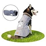 PAWZ Road Hund Jacke Haustier Kleidung Mantel Winter Herbst Warme Gemütliche Weste für Kleine Mittel Große Hunde Grey 7XL