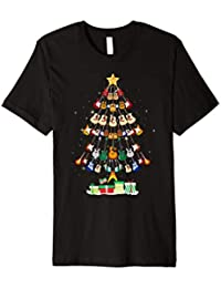 Christmas Guitar Tree Shirt Funny Merry Xmas Gifts