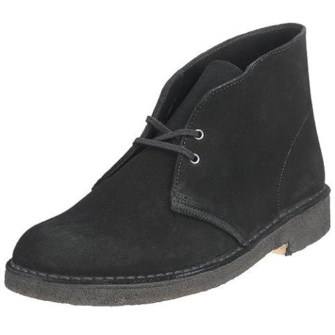 Clarks Originals Men's Desert Boot, Black Suede, 13 M