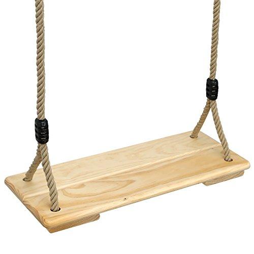 Pellor Holz Schaukelsitz Erwachsene Schaukel Kinderschaukel Garten Brettschaukel für Outdoor Spiele mit Höhenverstellbar Seil