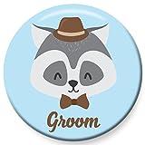 Polarkind Button Groom Bräutigam zur Hochzeit JGA Standesamt Polterabend 38 mm handmade Mitbringsel Namenschild Geschenk