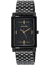 Sonata Analog Black Dial Boy's Watch -NK7058NM01
