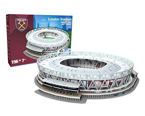 NANOSTAD 3865West Ham United da Londra Stadium 3D Puzzle, Multicolore